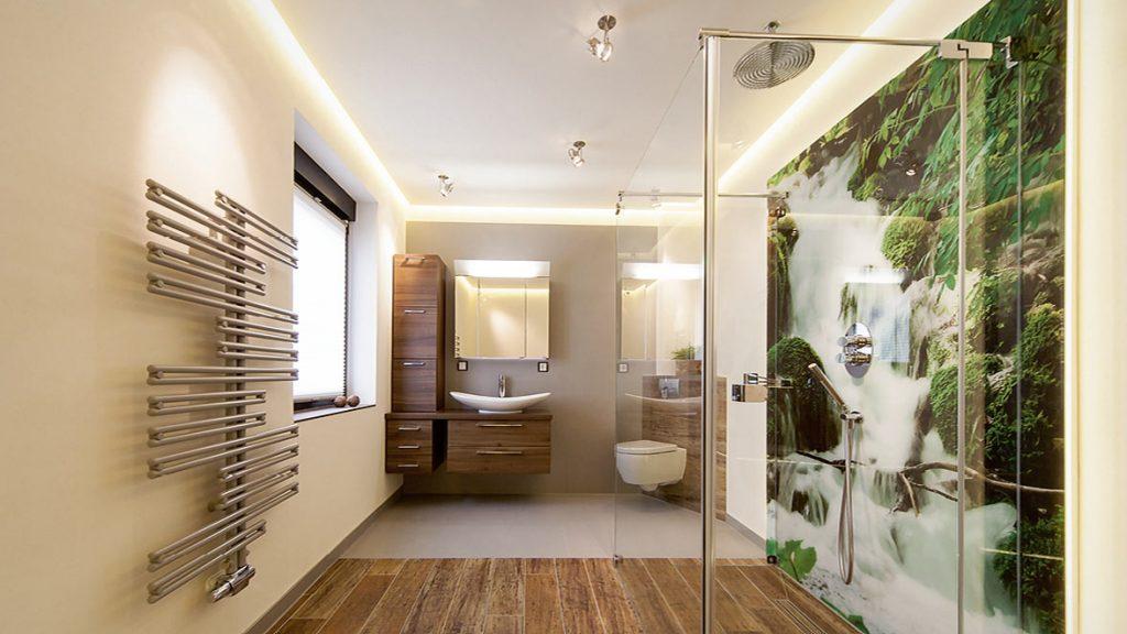 Schaffen Sie sich ein eigenes großes Duschareal.